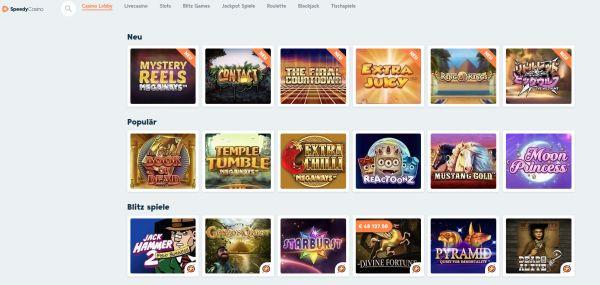 Speedy Casino Vorschau