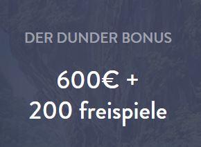 Dunder Casino Bonus